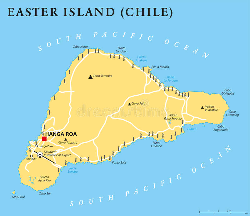 Easter Island Political Map Stock Vector Image - Political map of chile