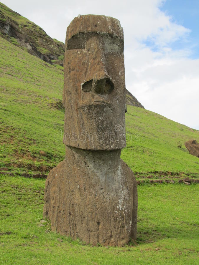Easter Island Rapa Nui Moai at Rano Raraku. Easter Island, Rapa Nui Moai at Rano Raraku stock photo