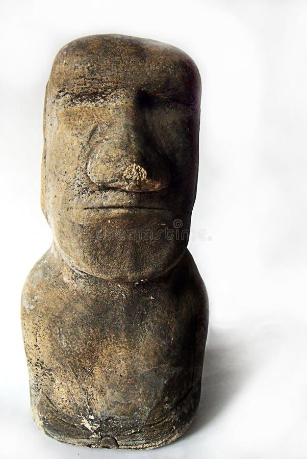 Easter Island Replica. Isolated easter island replica statue stock photos