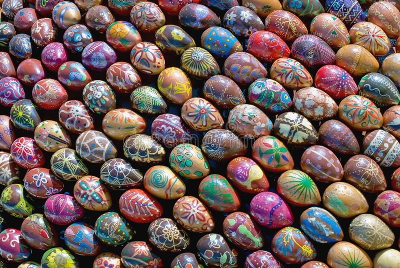 easter jajek farby rzeźba obrazy stock
