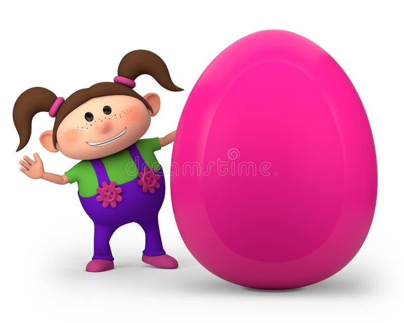 easter jajka dziewczyna trochę ilustracja wektor