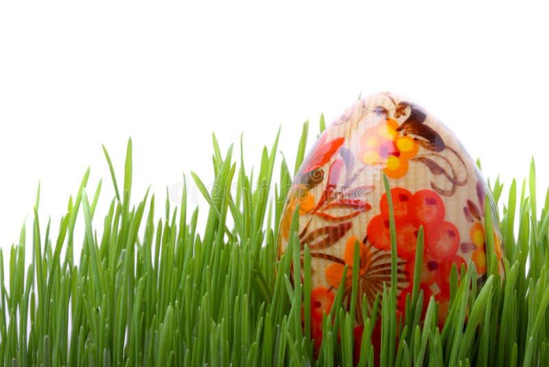 easter jajka trawy odosobniony biel obrazy stock