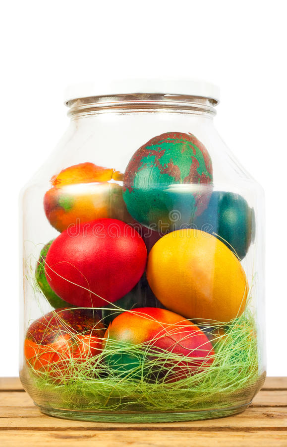 Easter Jar Eggs Stock Images