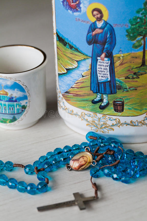 Easter jug ware. In table closeup stock images