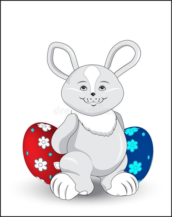 easter kanin vektor illustrationer