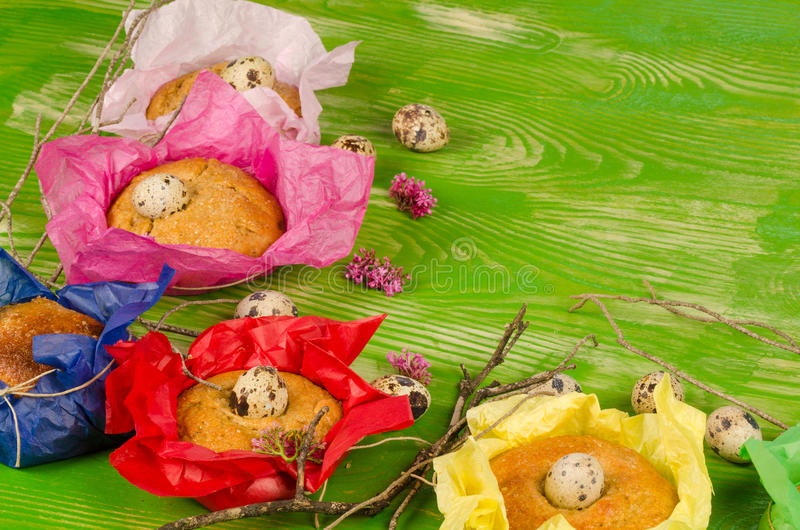 Easter kid food still life royalty free stock photography
