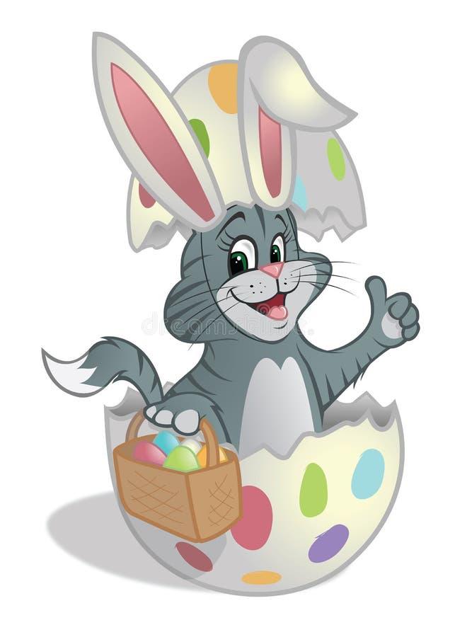 Easter kitten basket eggs