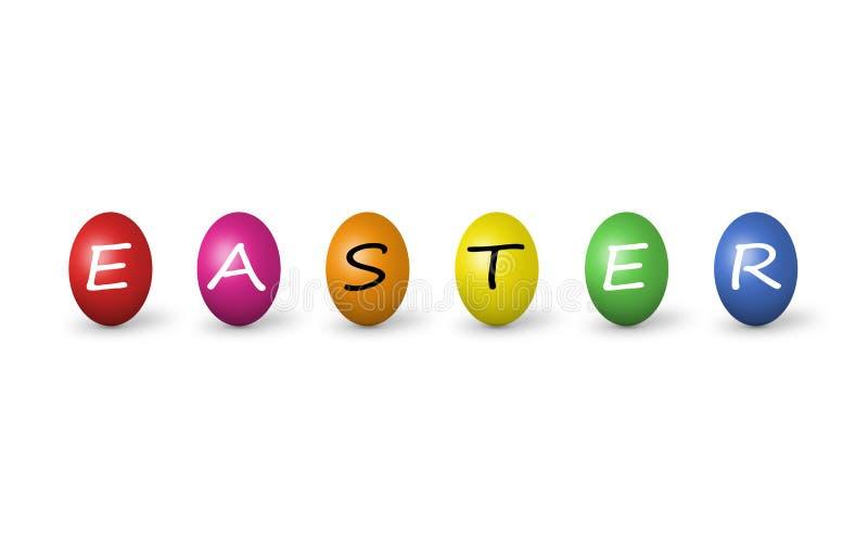 Download Easter Kolorowi Jajka Odizolowywali Biel Ilustracji - Ilustracja złożonej z piękny, fartuch: 13336492