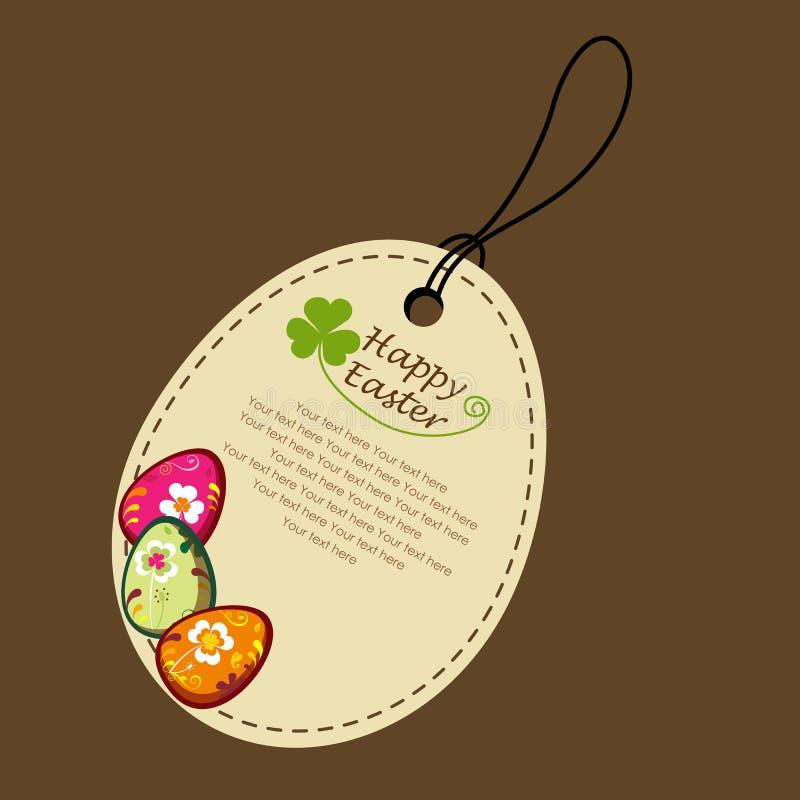 Easter label royalty free illustration
