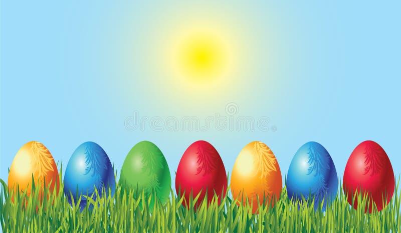 Download Easter landscape stock vector. Image of claret, branch - 13116002