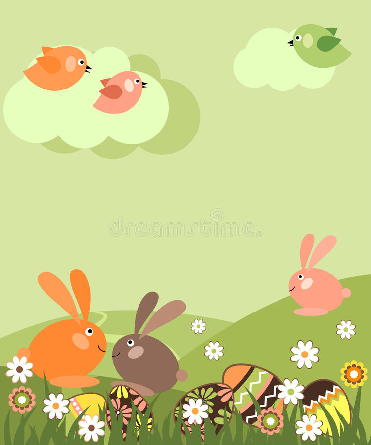 easter liggande royaltyfri illustrationer