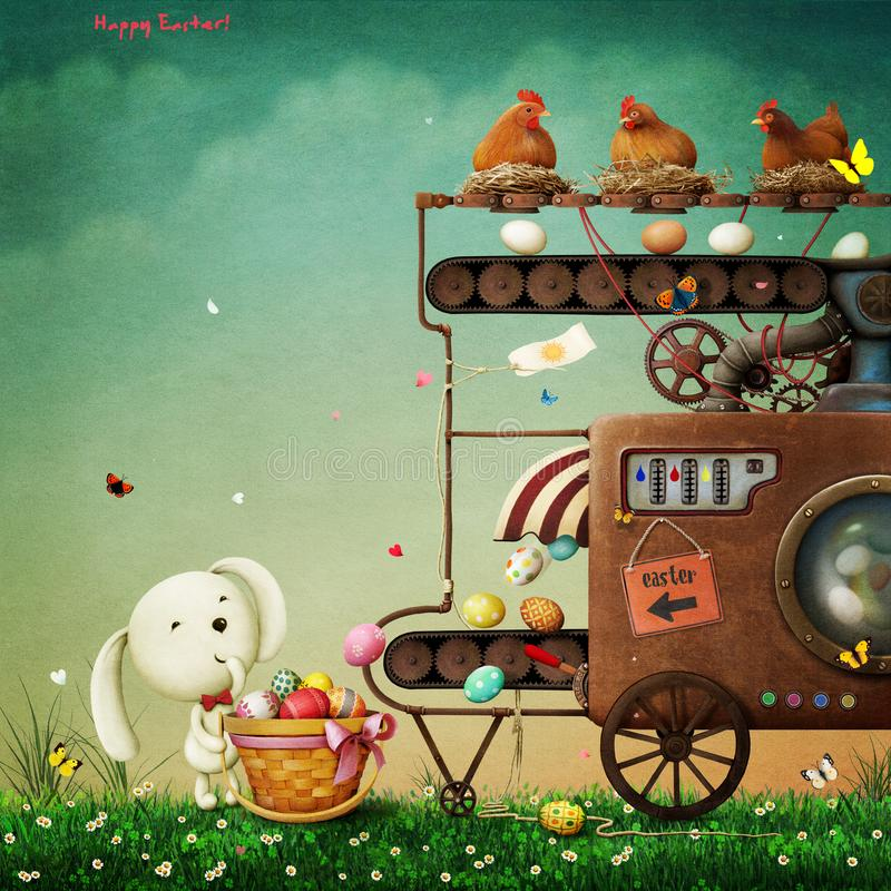 Easter Machine stock illustration