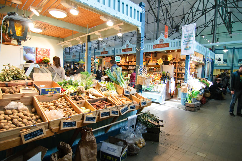 Easter market in Tampere Finland stock photos