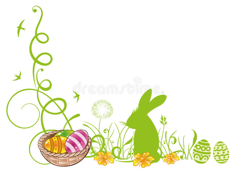 Easter, meadow, bunny