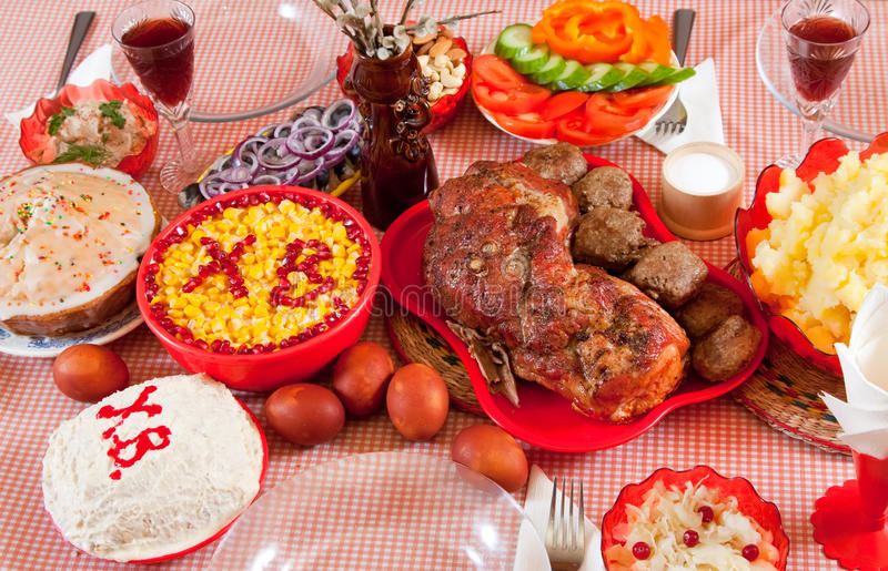 Download Easter meal stock image. Image of many, broken, holidays - 18746321