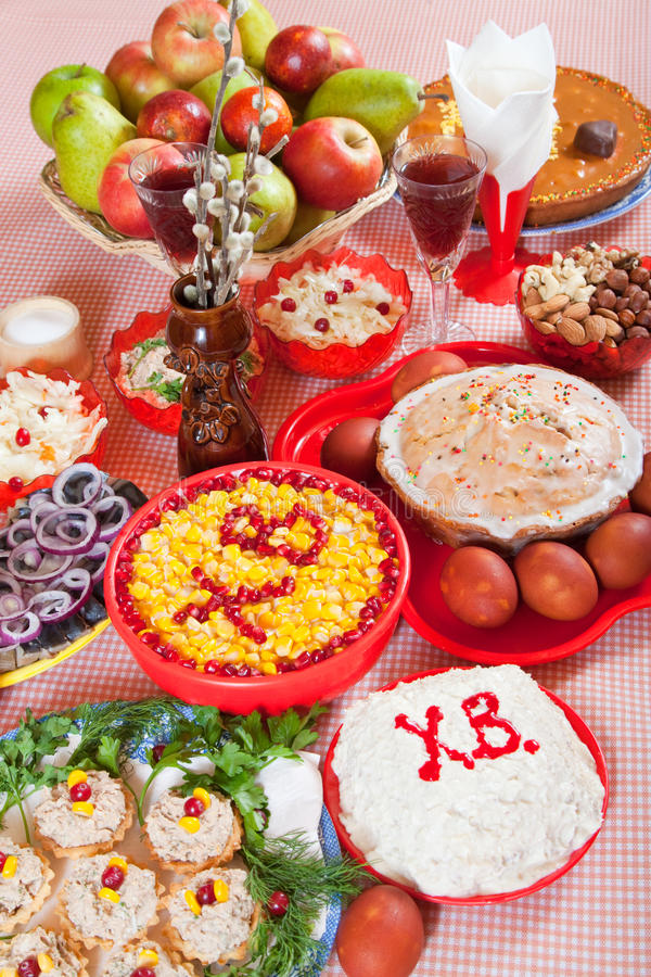 Easter meal stock photo
