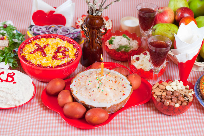 Easter meal stock photography