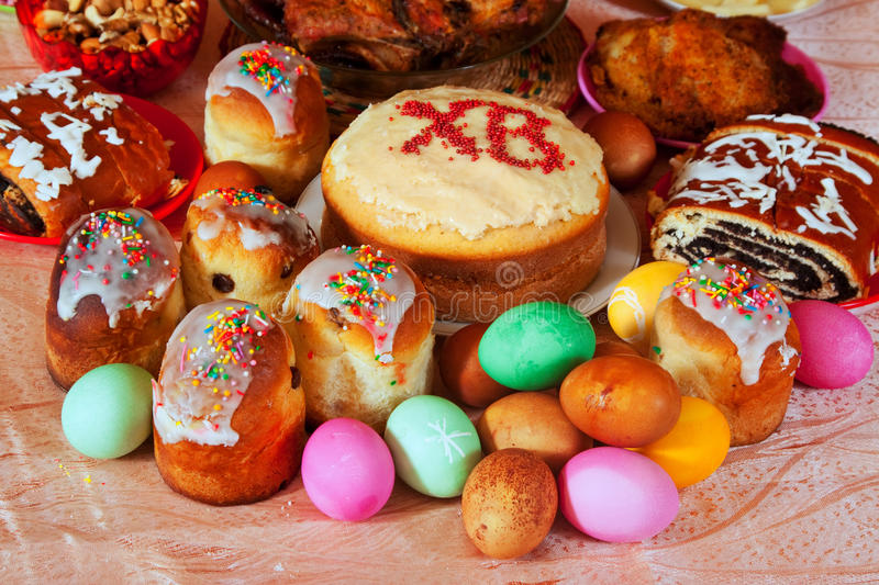 Easter meal stock photos