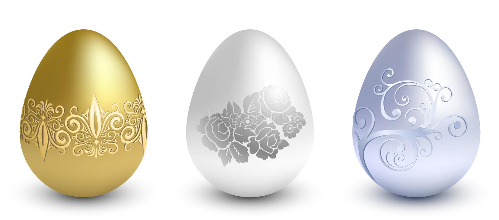 Easter metal eggs royalty free stock images
