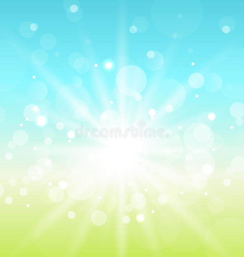 Download Easter Nature Background With Lens Flare Stock Vector - Image: 29499811
