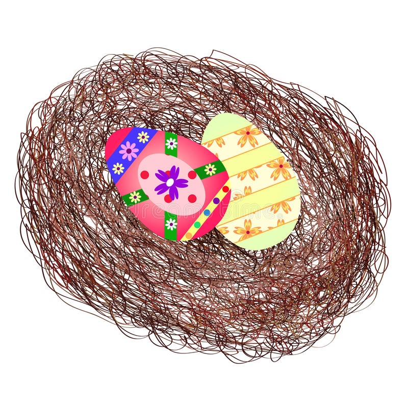 Download Easter nest stock vector. Image of isolate, spring, wicker - 24011297