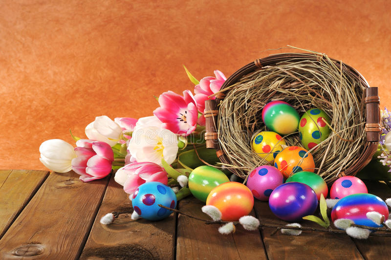 Easter nest royalty free stock photo