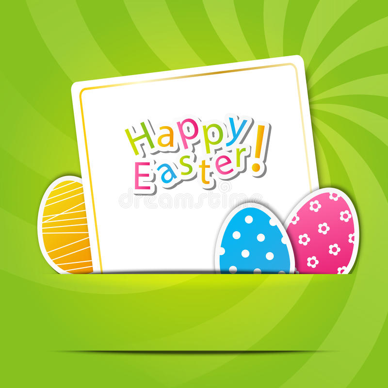 Easter paper card royalty free illustration