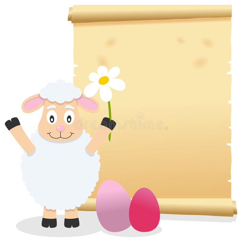 Download Easter Parchment Scroll With Lamb Stock Vector - Image: 39304368