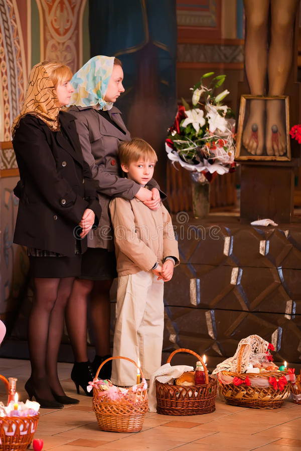 Download Easter, Parishioners Of The Orthodox Church. Stock Photo - Image: 19282570