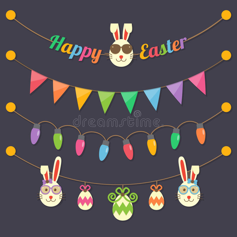 Easter party light bulbs royalty free illustration