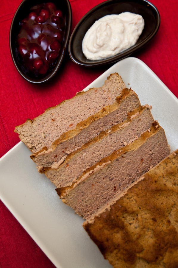 Easter Pate Food Composition Stock Photo