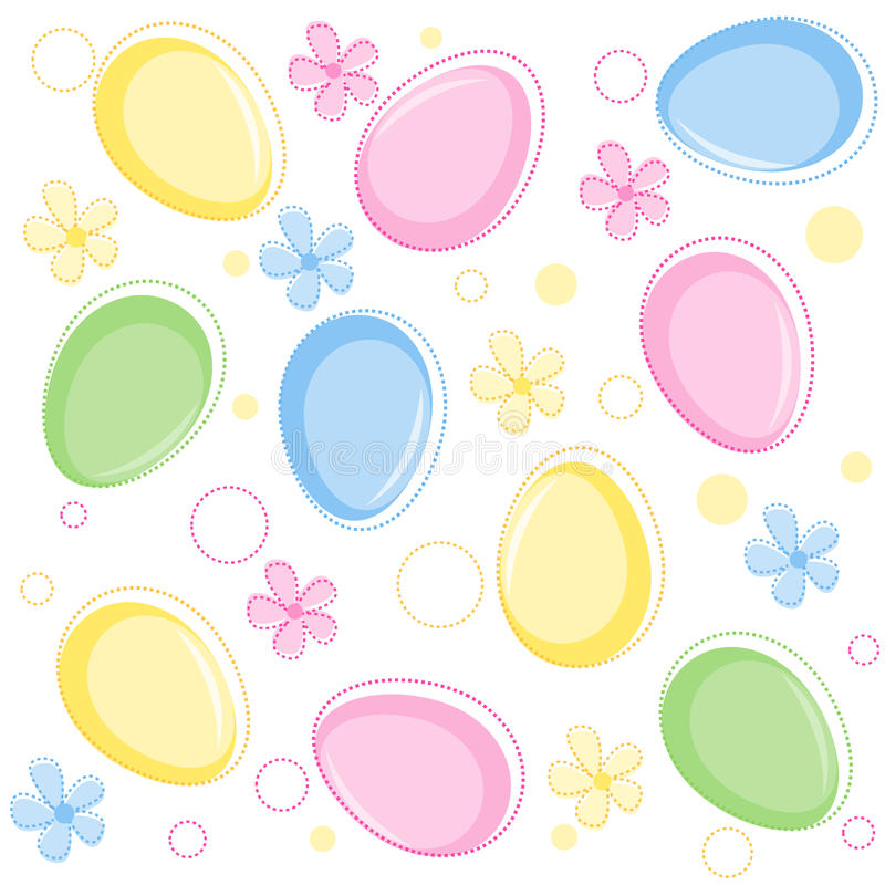 Easter Pattern / Seamless Background Royalty Free Stock Photos