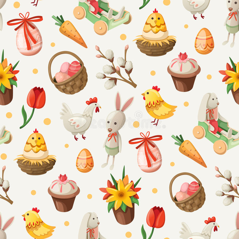 Easter pattern vector illustration