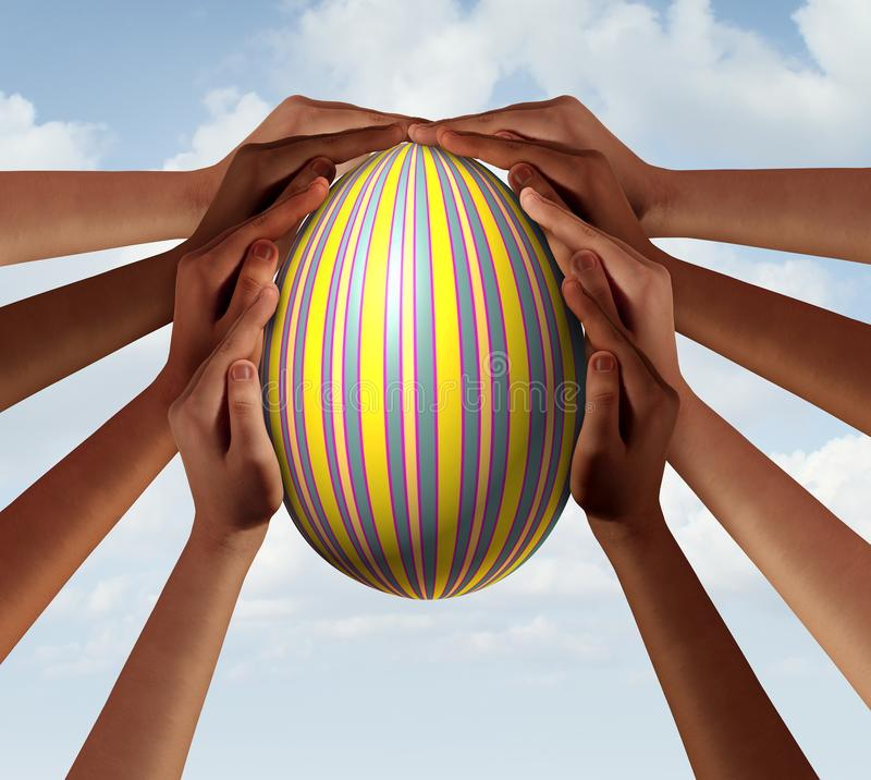 Easter People Seasonal Spring Group royalty free stock photography