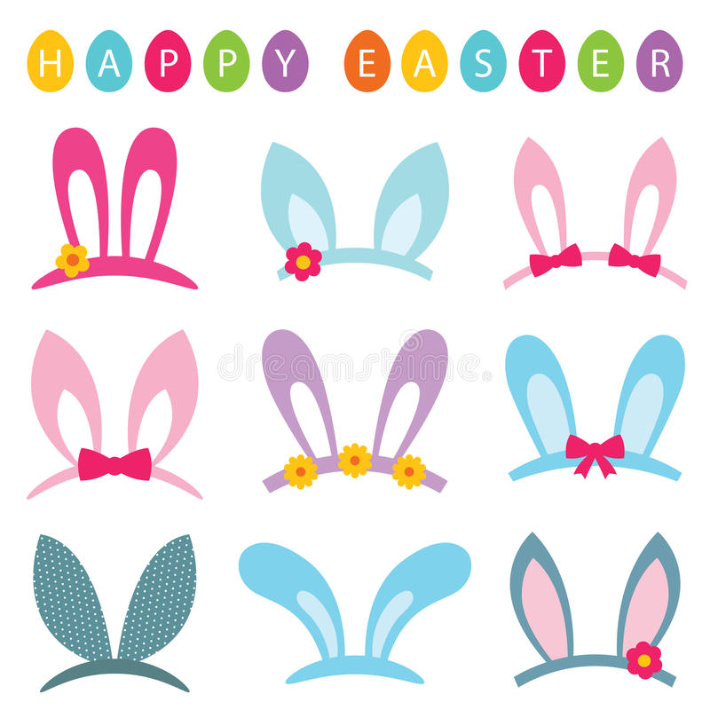 Free Easter Photo Booth Props Set Bunny Ears Royalty Free Stock Photography - 86238557