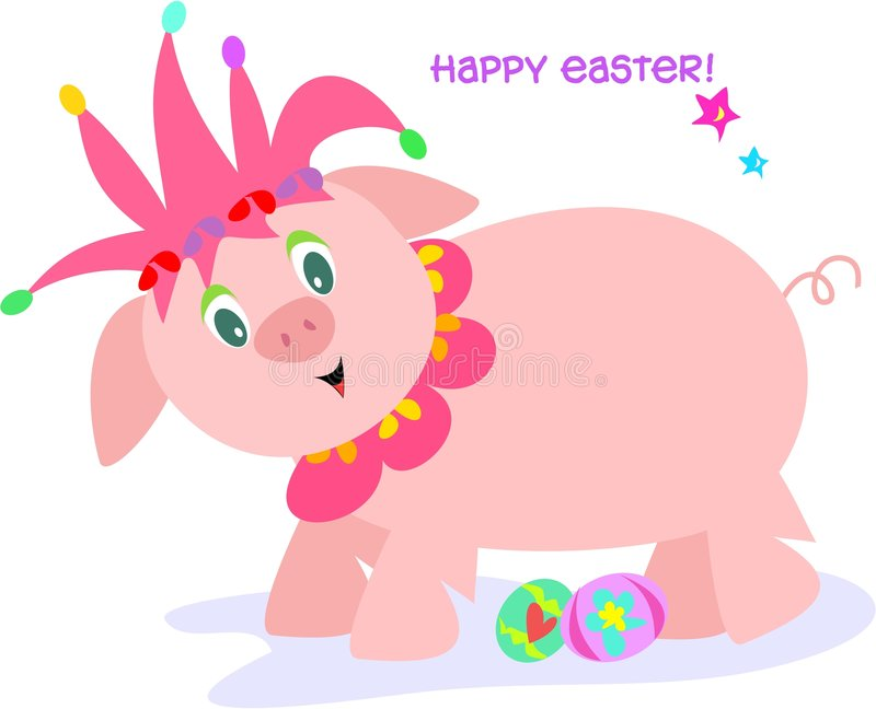 Download Easter Pig Jester stock vector. Image of hoof, occasion - 8012360
