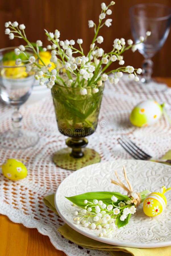 Easter Place-setting Royalty Free Stock Images