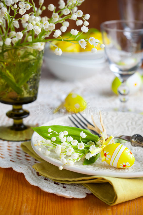 Download Easter place-setting stock image. Image of glass, selective - 18394507