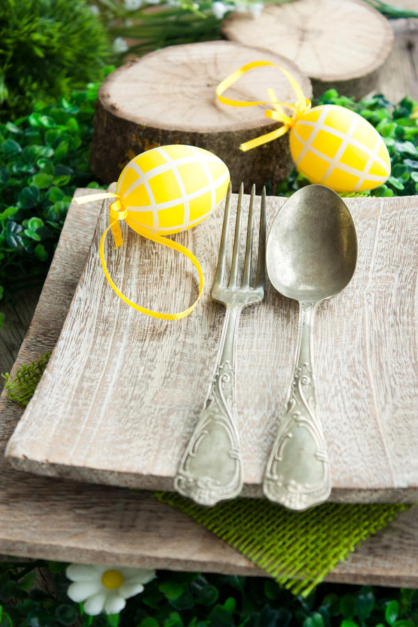 Download Easter place setting stock photo. Image of lunch, iron - 23208610