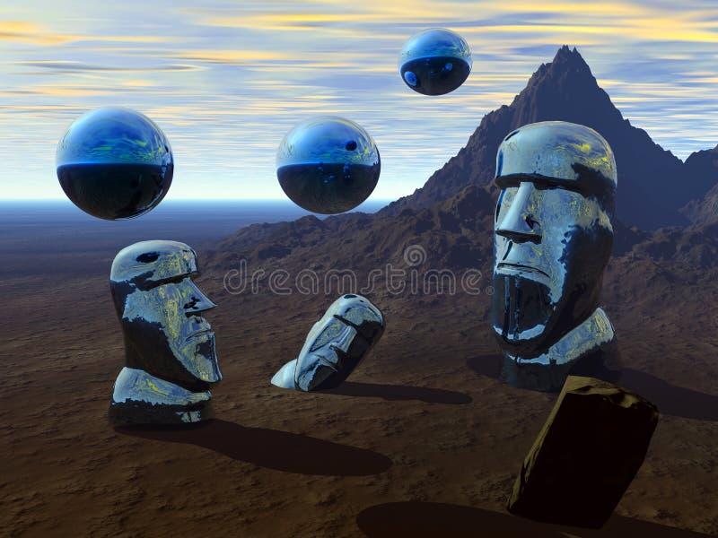 easter planet vektor illustrationer