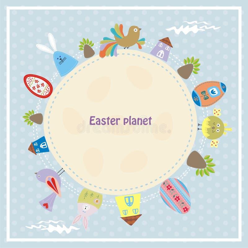 Easter planet stock illustration