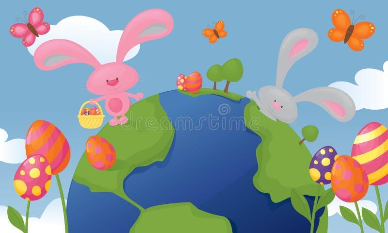 Easter Planet royalty free illustration