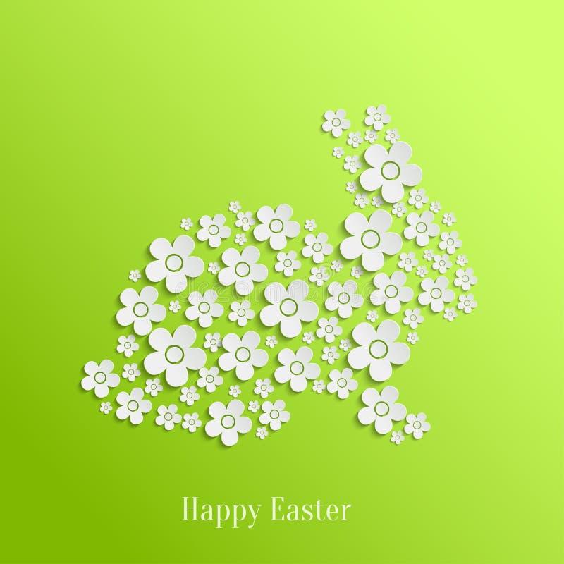 Easter Rabbit Bunny of White Flowers royalty free illustration
