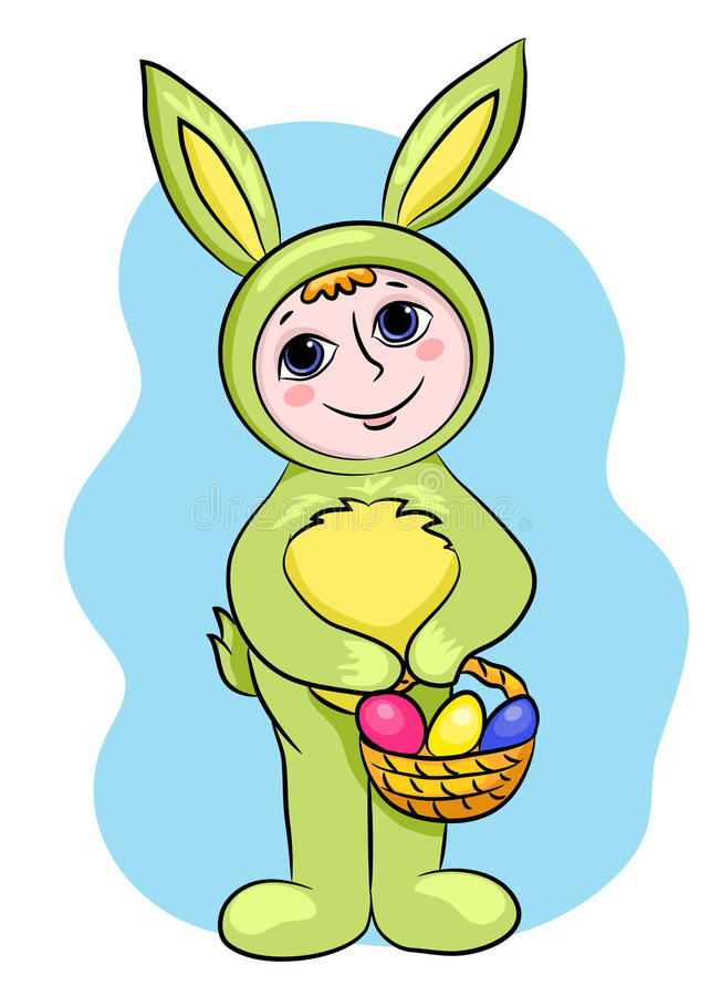 Download Easter rabbit child stock vector. Image of grass, happiness - 23055441