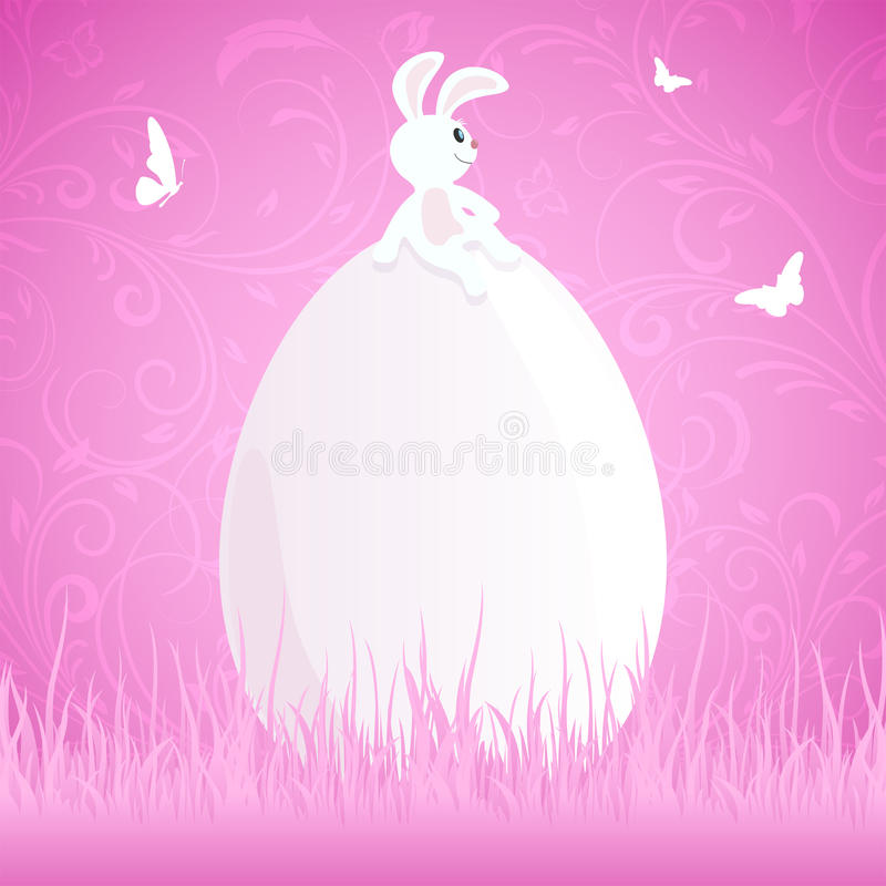 Download Easter rabbit on egg stock vector. Image of abstract - 38018552