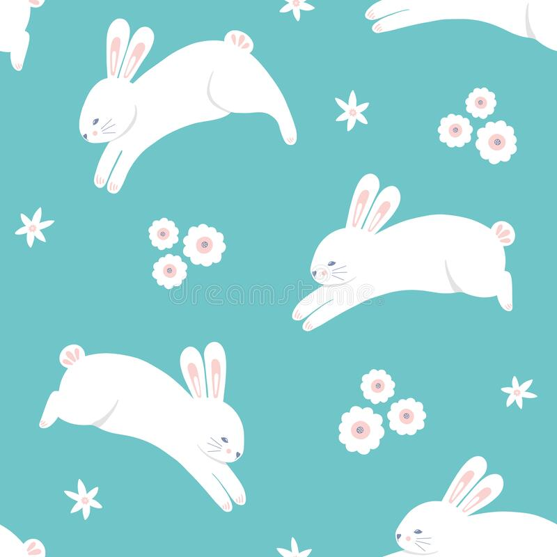 XXS-XL Springtime Bunnies and Their Pet Sheep Bandana