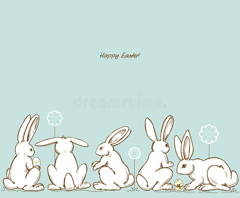 Download Easter rabbits stock vector. Illustration of clipart - 23807707