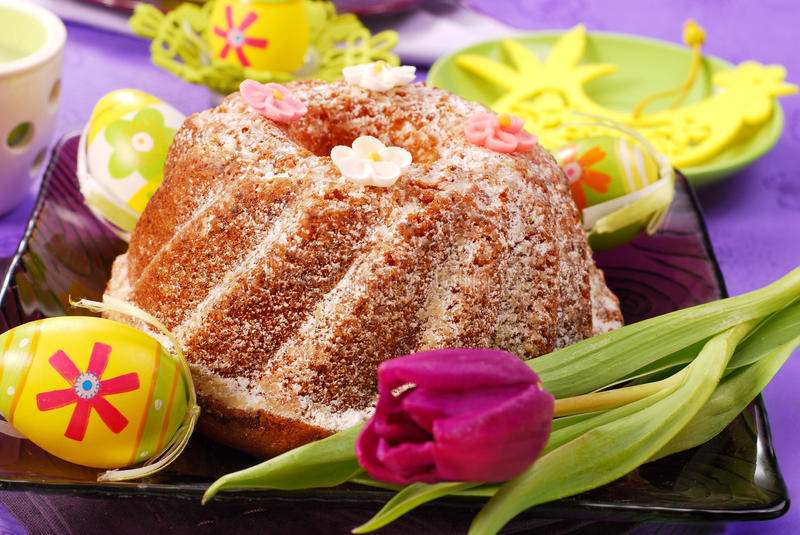 Easter ring cake royalty free stock images
