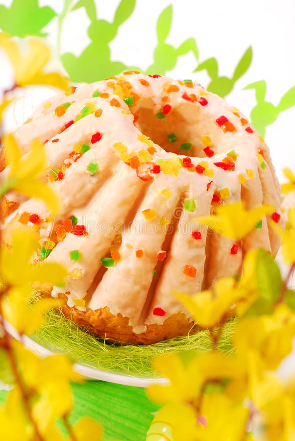 Download Easter Ring Cake With Glaze Royalty Free Stock Photos - Image: 13101328