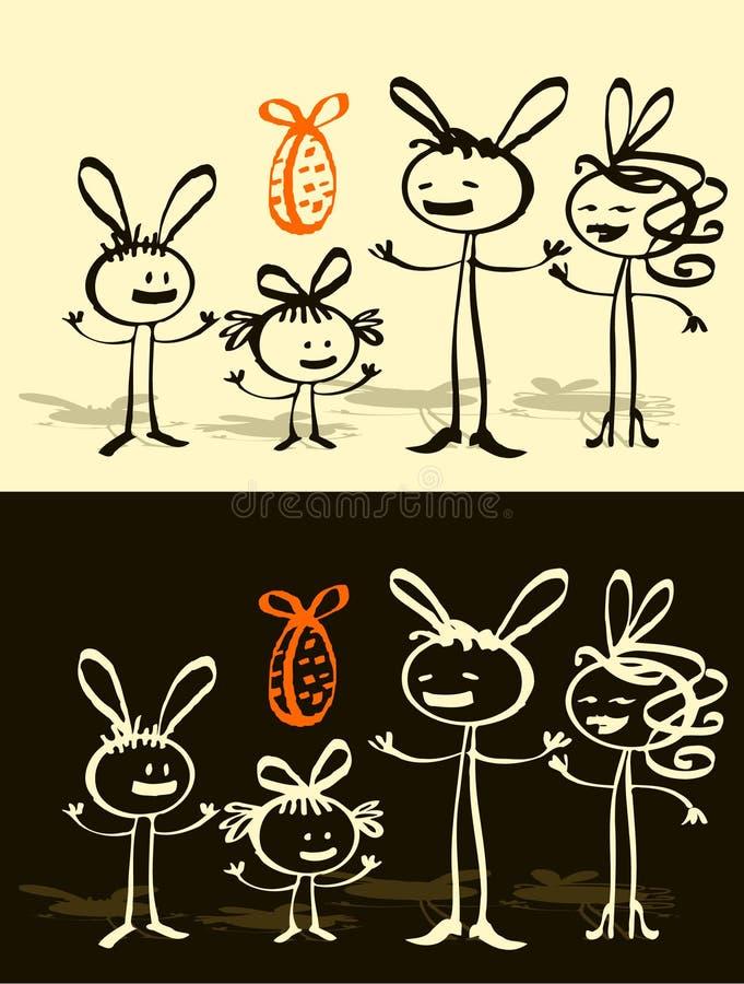 easter rodzina ilustracja wektor